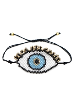 Against Evil Eyes Seed Beads Braided Bracelets B2200