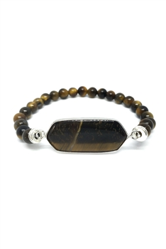 Natural Stone Strech Bracelets B2226 - Tiger Eye