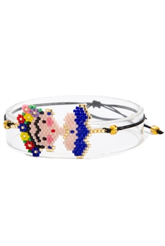 Seed Bead Frida Braided Bracelets B2252 - Blue