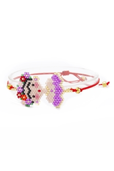 Seed Bead Frida Braided Bracelets B2252 - Purple