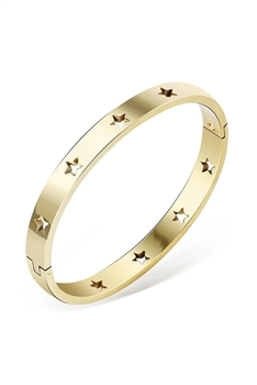 Hollow Star Stainless Steel Bracelets B2332 - Gold