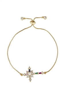 Cross Zircon Chains Bracelets B2349