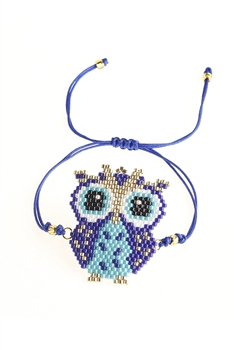 Owl Seed Beads Braided Bracelets B2363
