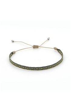 Bohemian Braided Bracelets B2371 - Green