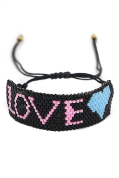 LOVE Seed Beads Braided Bracelets B2418