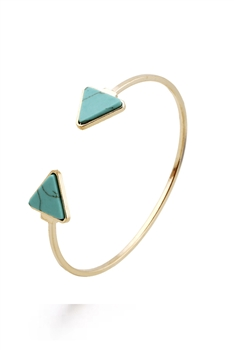 Triangle Turquoise Cuff Bracelets B2440 - Blue