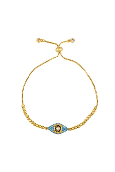 Evil Eye Zircon Chain Bracelet B2478