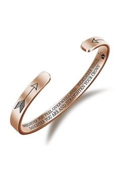 Stainless Steel Cuff Bracelet B2479 - Rose Gold