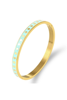 Points Stainless Steel Bracelet B2495 - Turquoise