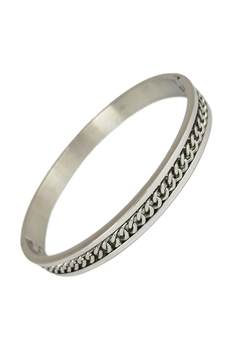 Chain Stainless Steel Bracelet B2510 - Silver
