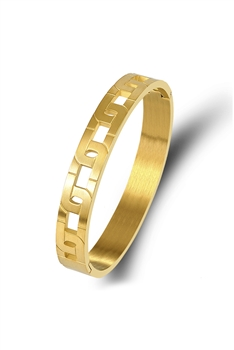 Chain Shaped Stainless Steel Bracelet B2636 - Gold