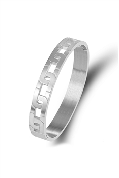 Chain Shaped Stainless Steel Bracelet B2636 - Silver