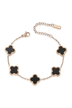 Clover Stainless Steel Chains Bracelets B2704