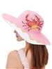 Printed Straw Fedora Hat C0026 - Crab(ADDITIONAL $0.5 SHIPPING COST)