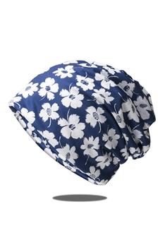 Floral Printed Turban Scarf C0033 - Blue