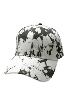 Tie-dye Multi-color Cap C0034 - Black-White