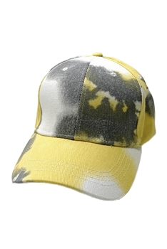 Tie-dye Multi-color Cap C0034 - GREY-YELLOW