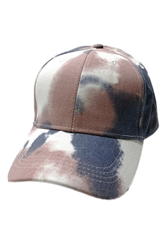 Tie-dye Multi-color Cap C0034 - PINK-BLUE