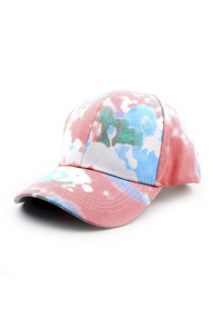 Tie-dye Multi-color Cap C0034 - Pink-Multi