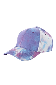 Tie-dye Multi-color Cap C0034 - Purple
