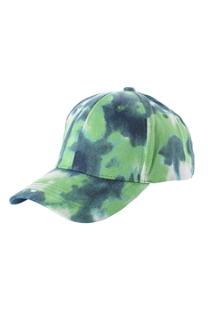 Tie-dye Multi-color Cap C0034 - Teal
