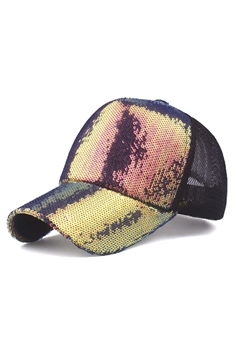 Sequines Mesh Cap C0067 - Multi