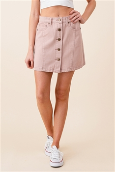 Button-up Denim Skirt DN0012 - Blush