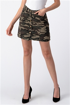 Button-up Denim Skirt DN0012 - Camo