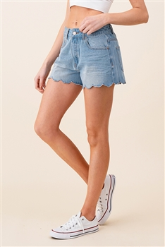 Wave Edge Denim Shorts DN0017 - Blue