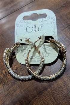 Crystal Hoop Earrings E0001 - NO.2