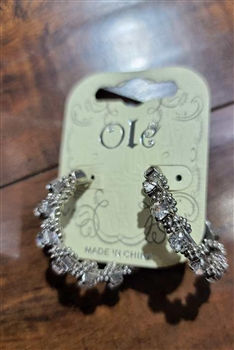 Crystal Hoop Earrings E0001 - NO.4