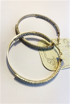 Crystal Hoop Earrings E0003 - NO.10