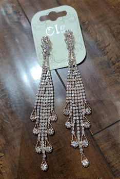Crystal Tassel Earrings E0025 - NO.6