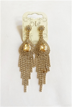 Rhinestone Tassel Drop Earrings E0045 - NO.1