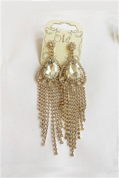 Rhinestone Tassel Drop Earrings E0045 - NO.2
