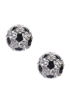 Crystal Football Earrings E1352