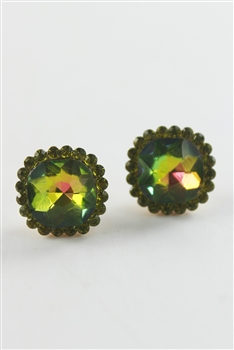 Large Crystal Encrusted Stud Earrings E1427