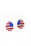 Crystal Accent American Stud Earrings