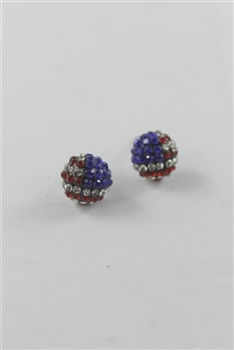 American Sphere Stud Earrings E1538