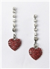 Crystal Accent Heart Drop Earrings