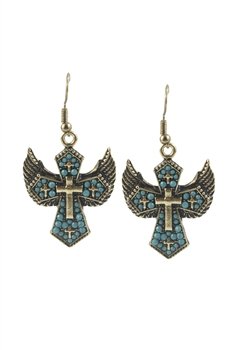 Classic Retro Creative Cross Drop Earrings E1683