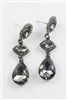 Gemstone Teardrop Crystal Accent Drop Earrings E1728