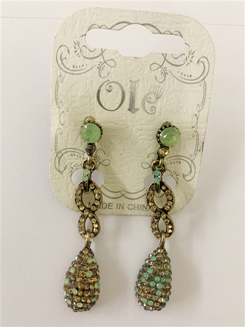 Crystal Accent Chain Drop Earrings E1734