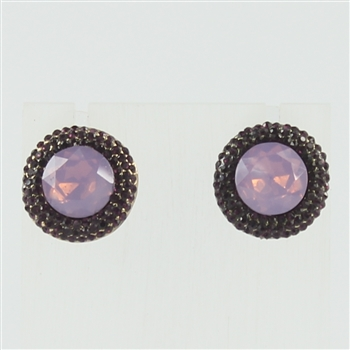 Crystal Dotted Gemstone Earrings E1758