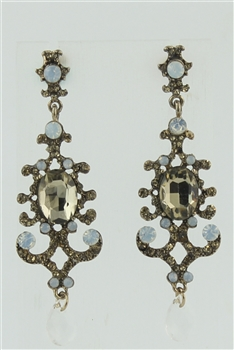 Crystal Metal Drop Earrings E1789