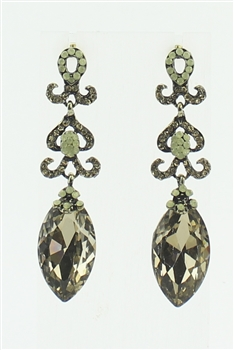 Crystal Accent Art Deco Drop Earrings E1813