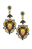 Geometry Crystal Filigree Drop Earrings E1814