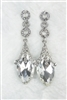 Art Deco Crystal Cone Drop Earrings E1815