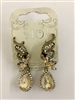 Crystal Accent Art Deco Drop Earrings E1822