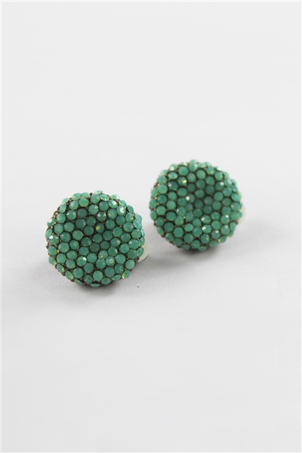 Crysta Accent Round Stud Earrings E1845